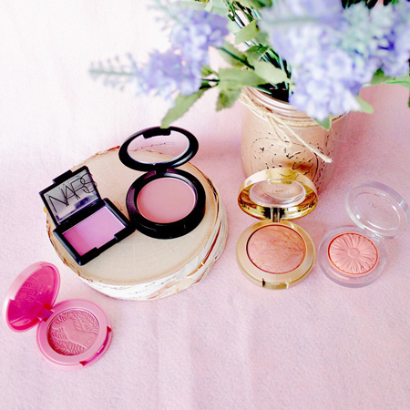 Top 5 Blushes including MAC, tarte cosmetics, milani, NARS, and Clinique