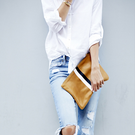 Styling the Clare Vivier Clutch