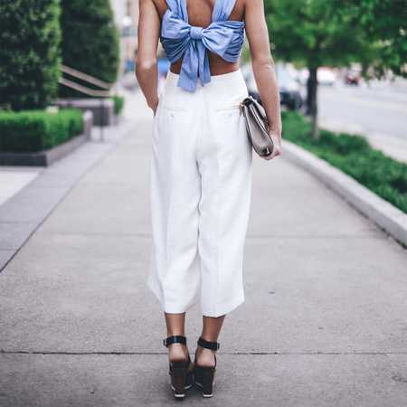Styling culottes in Spring 2015, Happily Gray in culottes