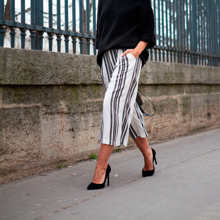 How to wear culottes, Lovely Pepa in culottes