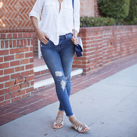 Song of style in distressed denim
