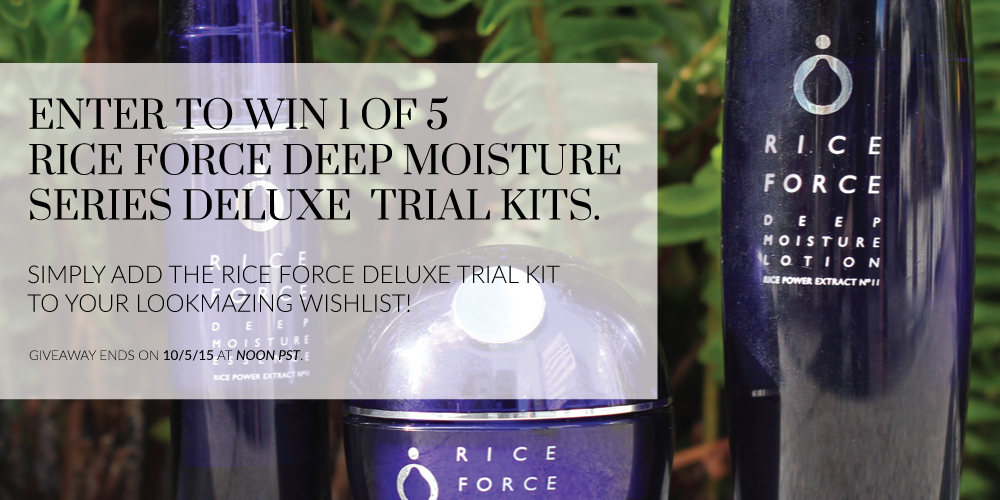 Rice Force Deep Moisture Series Giveaway on LookMazing
