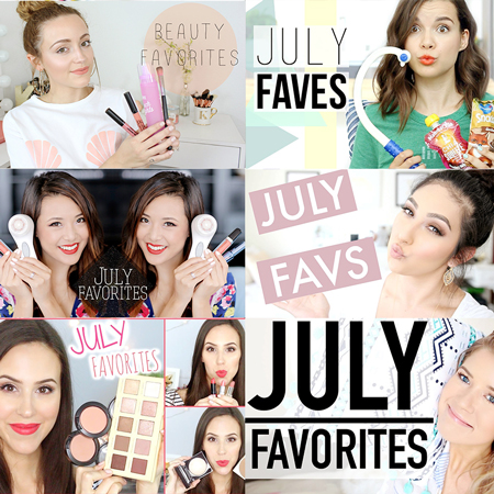 LookMazing's collection of top July Favorites YouTube Videos