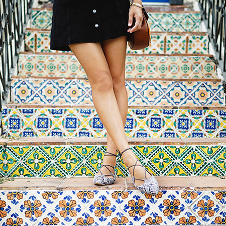 Song of Style in lace up pointed toe flats